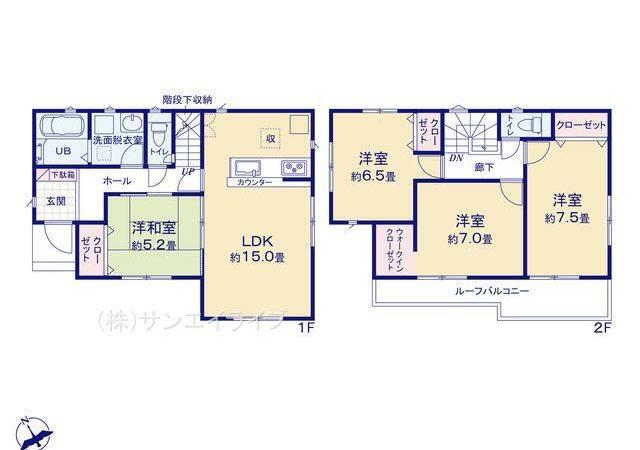 清須市下河原19-1期 全4棟 3号棟 新築戸建 リナージュ 4LDK