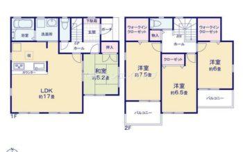 名古屋市第2中川区下之一色町三角 全3棟 3号棟 ファーストタウン 4LDK